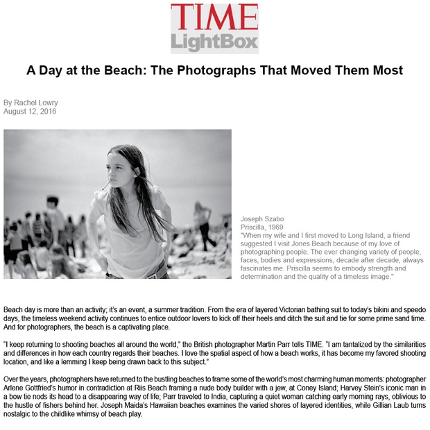 A Day at the Beach: The Photographs That Moved Them Most
